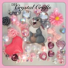 Disney Pink Thumper Theme Cabochon gems pearl flatbacks for decoden crafts Bambi