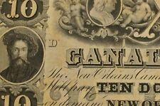 New Orleans Canal Bank Ten Dollars $10 Uncirculated Obsolete Banknote 088F