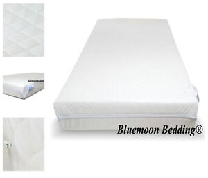 "NEW SUPERIOR HIGH DENSITY FIBER MATTRESS 4"" - 100x50x10cm FOR SPACE SAVER COT"
