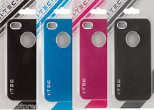 I Phone 4,4S case 1 black,1 blue, 1 Rubin pink &1 pearl gray case for I Phone 4