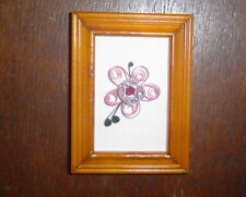 Paper Quilled Paper Flowers in Frame.- Handcrafted