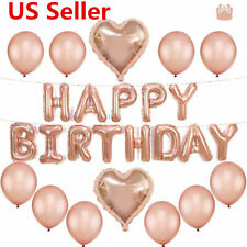 Rose Gold Wedding Birthday Party Balloon Letter Foil Balloon PARTY SUPPLIES USA