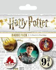 Official Harry Potter Button Badges Badge 5pk Gryffindor