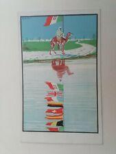 Cartolina Fiera campionaria Tripoli Francisis Africa Coloniale arte