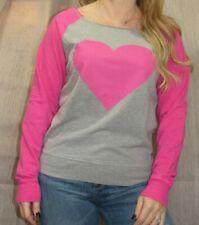 Cozy Zoe Vintage Inspired Dorm Room Sweatshirt Pink Heart Lounge T Shirt, S, EUC