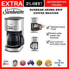 Sunbeam Aroma Drip Filter Coffee Machine Automatic Coffee Maker Stainless Timer