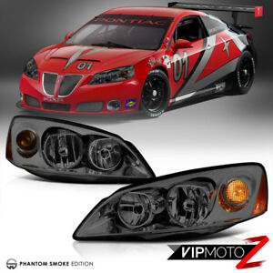 05-10 Pontiac G6 GT GTP GXP Smoke Lens Replacement Headlight Assembly LEFT+RIGHT
