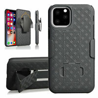 Belt Clip Holster Combo Phone Case With Stand Cover For iPhone 12 Pro Max 11 8 X