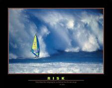 Windsurfing RISK Motivational Inspirational Office Wall POSTER Print