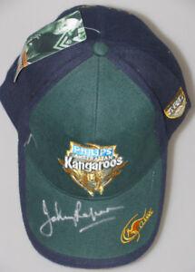 JOHNNY RAPER Hand Signed Australia Cap / Hat  FULL Signature * BUY GENUINE *