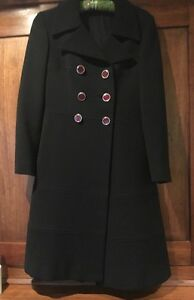 Jackie Kennedy Style 1970 Trapeze Wool Coat; Italy Couture; Hand Finished