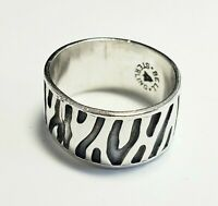 Vintage Bell Trading Post Band Ring Sterling Silver Sz 7 Native American