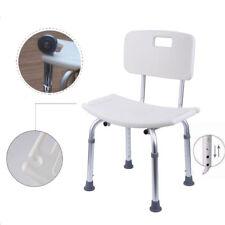 Duschstuhl Badhocker mit Rückenlehne Duschsitz Badestuhl Duschhocker 7 Fach