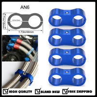 4PC -6AN Hose Separator Clamp Fitting Connector for Braided Oil Fuel Hose Line