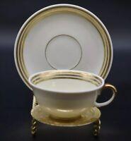 Furstenberg Tea Demitasse Cup and Saucer Circa 1918 Gold & Off White