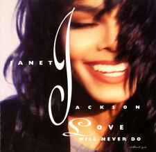 JANET JACKSON LOVE WILL NEVER DO CD RARE USA A&M 3 TRACK SINGLE REMIXES
