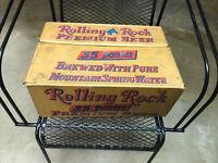 RARE! Vintage Rolling Rock Ponies Pony Beer Cardboard Case - GREAT CONDITION