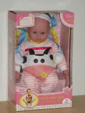 "Cuddly Lobe Dolls 16"" Travel Time Allie Doll Adjustable Cow Carrier Doll New"