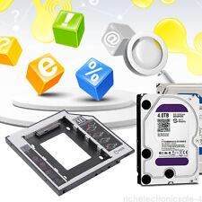 Sata 2nd Hdd Ssd Caddy Adaptador Para Laptops 9.5 mm óptico Disco Duro Bay New