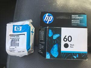 New Genuine HP 60 Black Color Ink Cartridges Deskjet D1663 Deskjet D1668