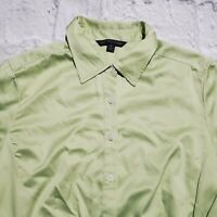"Women's Brooks Brothers Sz 12 Button Shirt Green ""346"" Collared"