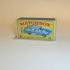 Matchbox Lesney 42 b Studebaker Lark Wagonaire empty Repro E-E3 style Box