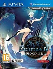Deception 4 IV Blood Ties PS Vita PAL *dispatched From Brisbane*