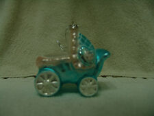 BABY'S CHRISTOPHER RADKO? BUGGY CHRISTMAS ORNAMENT GLASS NEW