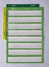 Lime Green Classroom Pocket Chart by Happy Teacher 8 Pockets Teaching Supplies