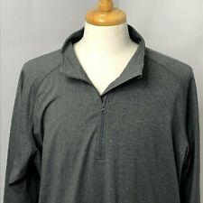 Sport-Tek Men's Shirt 1/4 Zip Spandex Long Sleeve Athletic Tee Size 2XL