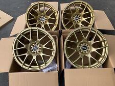 18X8.75 F   18x9.75 R  XXR 530 5X100/114.3 +20 Gold Rims Fits 350z G35 Coupe