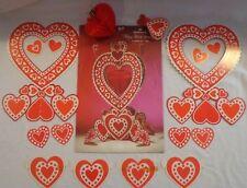 "Hallmark Valentines Day Centerpiece Vintage Happy Hearts Honeycomb 13.25"" Usa"
