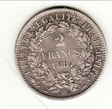 2 FRANCS CERES 1887 A RARE état SUP