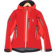 HAGLOFS GORE-TEX SOFT SHELL RECCO Hooded Ski Jacket Women Size 40 / UK 14 MJ1586