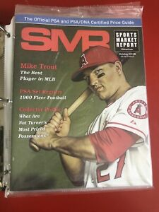 SMR Sports Market Report Magazine PSA Card OCTOBER 2018 MIKE TROUT Cover