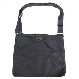 PRADA Shoulder Bag Triangle Logo Nylon Black