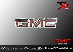 2000 - 2013 GMC Sierra LED Tailgate Logo Emblem - Chrome