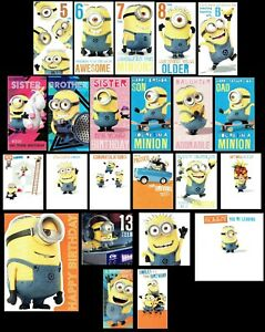 DESPICABLE ME ~ OFFICIAL Card BIRTHDAY, GET WELL, THANK YOU SORRY YOU'RE LEAVING
