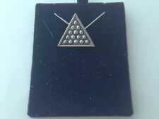 S5 Snooker Triangle on a 925 sterling silver Necklace Handmade 16 inch chain