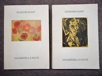 Moderne Kunst - Hauswedell & Nolte 1973 and 1974 Auktion 193 / 199 2 books
