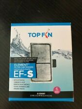 One pkg 6 filters Top Fin Element Filter Carbon Cartridges EF-S 6 Month Supply,