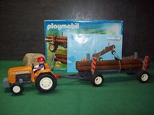 Playmobil Traktor mit Langholztransport 4209-A/2006, mit BA u. OVP!