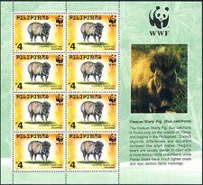 Philippines 1997 WWF/Pigs/Animals/Nature/Wildlife/Conservation 8v sht (b7205)