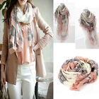 Elegant Women Long Print Cotton Scarf Wrap Ladies Shawl Large Silk Scarves