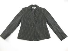 Le Suit.Full Lined Women's 2 Pieces Pants/Suit Black/Nude Stripped Size 6 (J2)