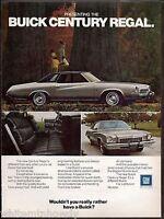 1973 BUICK Century Regal 2-door Hardtop Classic Vintage Car AD Advertising