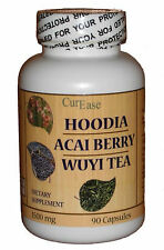 South African HOODIA GORDONII Weight Loss + Acai + Wuyi Oolong Tea ~ 90 Capsules