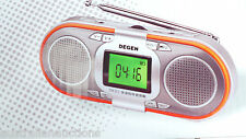 Degen D23  3in1 Rechargeable AM/FM  / SWRadio Dual Speakers Portable +MP3 Player