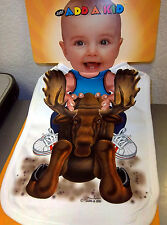 New! Just Add A Kid oversize super absorbent Baby Bib Baby Boy Riding a Moose