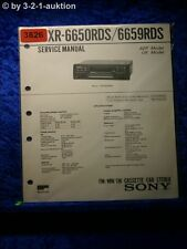 Sony Service Manual XR 6650RDS / 6695RDS Car Stereo (#3826)